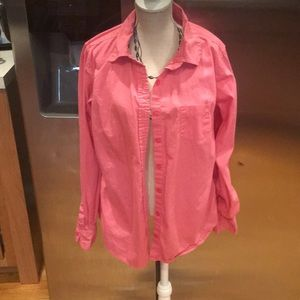 Women's coral button down faded glory size small